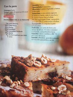 Torta pere e cooccolato Banana Bread, Desserts, Food, Tailgate Desserts, Deserts, Eten, Postres, Dessert, Meals