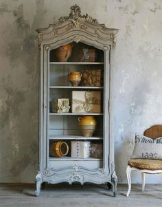 What I would like for my tea collection. Circa 1890 French Armoire With Chicken Wire Door, French confit jars. Country Furniture, French Furniture, Shabby Chic Furniture, Shabby Chic Decor, Vintage Furniture, Painted Furniture, Furniture Design, French Decor, French Country Decorating
