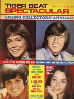 Tiger Beat Spectacular April 1971 David Cassidy Osmonds Bobby Sherman