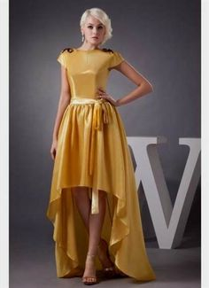 Awesome yellow prom dress with sleeves 2017-2018 Check more at http://24myfashion.com/2016/yellow-prom-dress-with-sleeves-2017-2018/