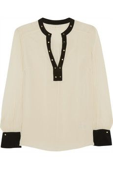 Tory Burch Kiera silk-georgette top | NET-A-PORTER