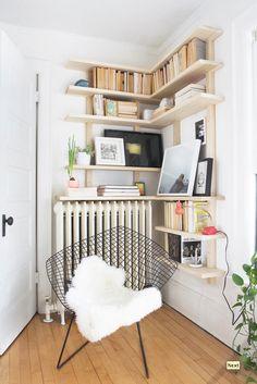 Radiator Shelf Space.