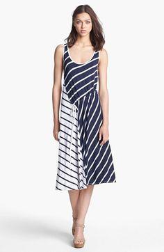 Three Dots Stripe Tank Midi Dress available at #Nordstrom