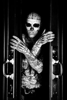 Rick Genest (yes, the tattoos are real) by Dmitry Smirnov. ☀