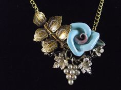 Vintage pin assemblage necklace by Castyourbread on Etsy, $20.00