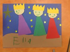 Christmas Crafts for kindergarteners Three Wise Men craft, Kindergarten, Sunday School Kunsthandwerk Jesus Crafts, Bible Story Crafts, Man Crafts, Felt Crafts, Bible Stories, Kindergarten Sunday School, Sunday School Lessons, Sunday School Crafts, Preschool Kindergarten