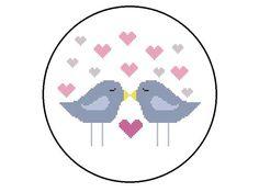 Counted Cross Stitch Pattern Love Birds by CrossStitchDiva, $4.50