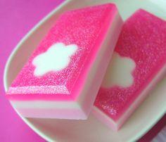 Soap Cherry Blossom Flower  Handmade by SunbasilgardenSoap