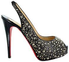 Comprar Christian Louboutin Star Prive 120 Negras Plataforma Slingbacks de moda y de alta calidad
