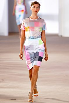 Preen, RTW Sp12: Perfect for the Architecture theme for Clotheshorse Fall 12 but it would have to be knitted in skinny, skinny yarn.