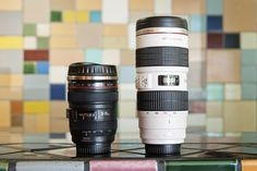 already have the black one BUT these are awesome --- Canon Camera Lens Mugs - obsessed with the tall white one - The Photojojo Store!
