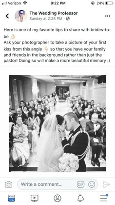 First kiss wedding shot Perfect Wedding, Cute Wedding Ideas, Wedding Goals, Wedding Things, Dream Wedding, Wedding Inspiration, Wedding Stuff, Blue Wedding, Wedding Planning Hacks
