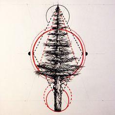 minimalist tree tattoo - Google Search More