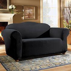 Black Loveseat Slipcover
