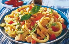Dietetyczne przepisy z makaronem No Calorie Foods, Low Calorie Recipes, Fruit Recipes, Spaghetti, Ethnic Recipes, Cooking Ideas, Html, Fish, Foods With No Calories