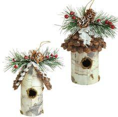 "3452473 - 6"" BIRDHOUSE ORNAMENT Christmas Bird, Christmas Tree Themes, Christmas Centerpieces, Christmas Toys, Christmas Projects, Holiday Decor, Wine Cork Birdhouse, Birdhouse Craft, Diy Weihnachten"