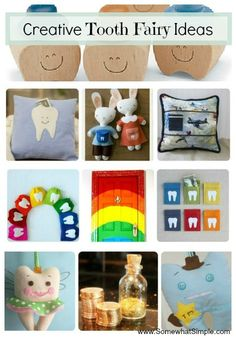 Creative tooth fairy ideas. like the 6 colored tooth pockets.  would be fun to make one w kids name on it