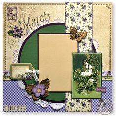 Graphic 45 Place in Time scrapbook layout