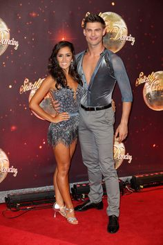 Janette Manrara and Aljaz Skorjanec arrive for the launch of 'Strictly Come Dancing 2016' at Elstree Studios on August 30, 2016 in Borehamwood, England.