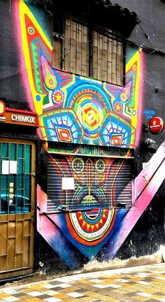 Bogotá Colombia - Street Art & Graffiti – This is from the Parque de los Periodistas, near El Centro (Old Downtown) district of Bogotá. The street art and graffiti is on par with the best in the world. World class artists have come to Bogotá! Original Photography by R. Stowe.