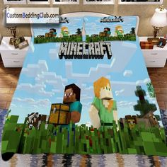 If you love this game, you should have a Minecraft bedding set at home! Visit our website to see all our Minecraft bed set designs! Minecraft Blanket, Minecraft Bedding, Set Game, Quilt Cover, Bed Sheets, Bedding Sets, Duvet Covers, Bedroom Ideas, Gaming