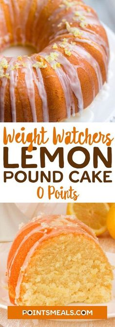 Weight Watchers Desserts, Weight Watchers Kuchen, Weight Watchers Diet, Ww Desserts, Weight Watchers Cupcakes, Pound Cake Recipes, Ww Recipes, Low Calorie Recipes, Crack Crackers