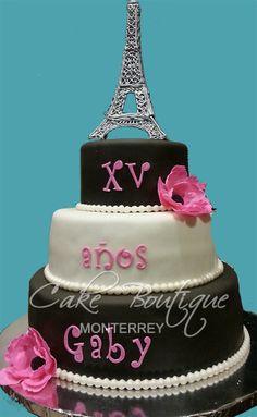 Mas me como a Paris! Parisian Cake, Fondant Cake Designs, First Communion Cakes, Quinceanera Cakes, Paris Cakes, Girly Cakes, 16 Cake, Horse Cake, Harry Potter Cake
