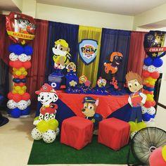 41 Ideas Baby Boy Party Ideas Birthday Paw Patrol For 2019 Paw Patrol Party Decorations, Paw Patrol Birthday Theme, Balloon Decorations, Paw Patrol Balloons, Paw Patrol Stickers, Baby Boy Birthday, Cake Birthday, Happy Birthday, 4th Birthday Parties