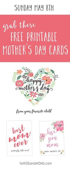 Mothers Day Messages and Free Printable Mothers Day Cards /forkidsandmoms/