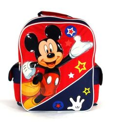 Disney Mickey Mouse  Funny Things Collection 16 Large Size School Backpack -- You can get additional details at the image link.