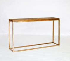 Plankton Wood and Gold Leaf Console  #WorldsAway