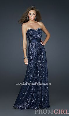 Shop La Femme evening gowns and prom dresses at Simply Dresses. Designer prom gowns, celebrity dresses, graduation and homecoming party dresses. Navy Prom Dresses, Strapless Prom Dresses, Dress Prom, Dress Long, Dresses Dresses, Long Dresses, Dresses 2013, Party Dress, Long Gowns