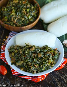 Sukuma Wiki and Ugali- A healthy African side dish, paired with collard greens. A step-by-step guide on how to make it!