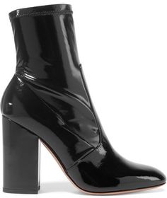 Valentino - Patent-leather Ankle Boots - Black