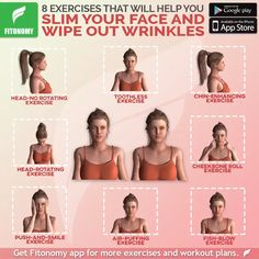 Have you been longing for a slimmer face without success? These 6 proven exercises for losing weight in your face will help you tighten, tone, and get rid of wrinkles.Fitonomy - The Best Fitness App and Supplements Face Exercises, Abdominal Exercises, Drawing Exercises, Yoga Exercises, Lose Weight In Your Face, How To Lose Weight Fast, Abs Workout Routines, Workout Videos, Ab Workouts