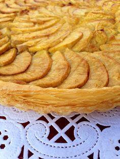 tarta de manzana con crema dealmendra