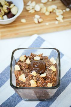Nutella Overnight Oats - These are AMAZING!! From What the Fork Food Blog Use gluten-free certified oats.