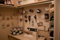 sewing rooms in small spaces | thought it would be an ingenious idea to use a shoe holder for all ...