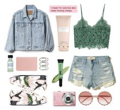 """//soft"" by faradila ❤ liked on Polyvore featuring MANGO, Gap, Dolce&Gabbana, Coast, L.A. Girl, Clips, Hollister Co., Carven, lace and prettyunderpinnings"