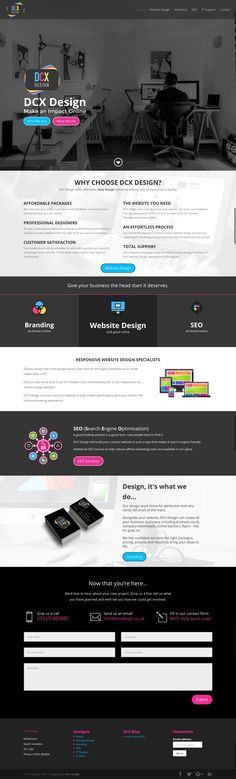 DCX Design are setting new standards in Web Design. From cutting edge, responsive websites to ecommerce platforms we can help you achieve your vision. Seo Optimization, Responsive Web Design, Sheffield, Wordpress Theme, Branding, Design Ideas, Website, Business, Inspiration