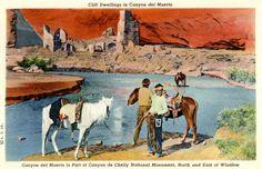 1940's Arizona postcard. Hagins collection.