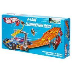 Hot Wheels Retro 4-Lane Elimination Race Trackset : Target