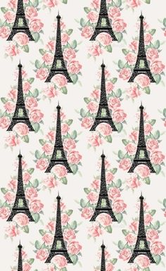 Eiffel tower pattern.iPhone wallpaper