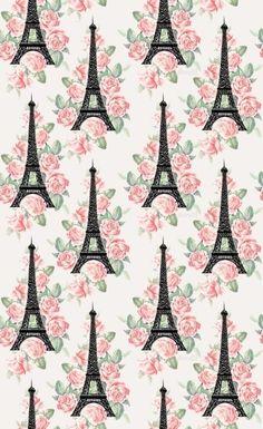 Eiffel tower pattern.iPhone wallpaper