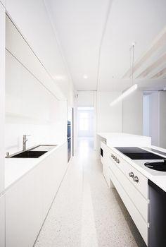 minimalist modern furniture beletage apartment in vienna by alex graef - Galley Apartment 2015