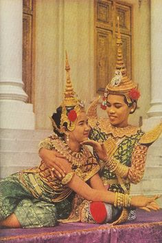 Before Pol Pot. Cambodian dancers 1952, from National Geographic.