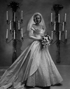 Chic Vintage Bride - Catherine Murray married William H McManus in November 1948 in a gorgeous lace and taffeta Ceil Chapman wedding dress. Chic Vintage Brides, Vintage Wedding Photos, Vintage Gowns, Vintage Bridal, Vintage Weddings, Country Weddings, Lace Weddings, Silver Weddings, Outdoor Weddings
