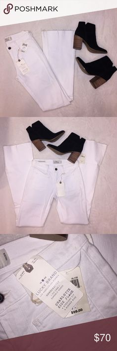 """NWT Lucky Brand """"Charlotte Kick Flare"""" white jeans NWT Lucky Brand """"Charlotte Kick Flare"""" white jeans! Lucky Brand Pants Boot Cut & Flare"""