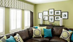 Colorful Game Room Decorating Idea Marker Girl Makeover - Great Decorating Idea for a Game Room upholstered shaped Cornice with panels