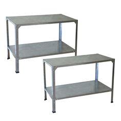 Palram Greenhouse Steel Potting Bench - 2 Bench Bundle-702439 - The Home Depot